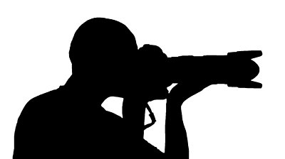 stock-footage-black-on-white-silhouette-of-a-photographer-with-high-speed-professional-camera-popping-up-and